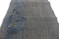 Japanese Ikat Boro Textile (FurugiStar) Tags: ikat kasuri japanese folk textile cotton fabric scrap boro furugistar striped stripe blue brown