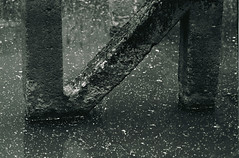 """""""и"""" (Weaver_23ph) Tags: concrete abstract construction aged reflection water industrial eos30 canon biometar film 35mm analog dof depthoffield wrocław hydro hydroelectric texture kodak tmax"""