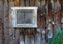 Small Window in a Log Wall (arbyreed) Tags: arbyreed window windowwednesdays hww log logwall rustic smallsquarewindow utahcountyutah