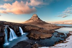 The UFO (MRC Imagery) Tags: kirkjufell iceland snæfellsnes peninsula snæfellsnespeninsula mountain waterfall water landscape sunset goldenhour golden nature clouds cloudy 1635mm 5dmk3 sky winter snow longexposure