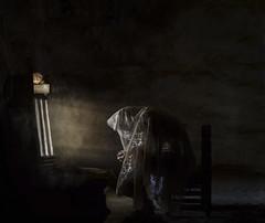 FAITH (oroyplata.) Tags: fe religion faith light shadow sombra contrastes ventana window casa pueblo city semanasanta spain caudillodealtobuey conceptual concept fone rafamacias oroyplata selfportrait portrait god photographer creative edition barraca profunda art