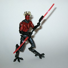 darth maul from star wars shadow of the dark side sdcc 2010 visionaries exclusive comic 2 pack action figures hasbro g (tjparkside) Tags: sotds shadow dark side darth maul cyborg visionaries old wounds comic 2pk 2 pk pack two with owen lars exclusive action figure figures lightsaber lightsabers twin blade hilt sith apprentice sdcc san diego con removable blades tatooine obi wan obiwan kenobi ben 2010 tvc vintage collection from star wars hasbro