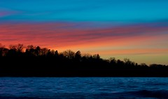 Lake Michigan Sunset (imageClear) Tags: sunset lakemichigan sheboygan wisconsin landscape dusk color beauty nature sky lake trees silhouette aperture nikon d500 80400mm imageclear flickr photostream