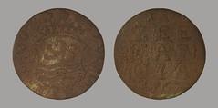 Netherlands Zeeland Duit 1767 (2011) (Ks Ed) Tags: duit zeeland dutch netherlands metal detecting detector norfolk england dug excavated find shield heraldic