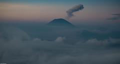 My love IV (Vagabundina) Tags: volcano mist fog morning landscape scenery sunrise fire dust eruption volcanoeruption clouds sky asia southeastasia indonesia java bromo merapi eastjava sun nikon nikond5300 dsrl