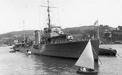 Ca. 1918 -1947:HMS MACKAY is our mystery destroyer - pic courtesy Colin Allison, ID thanks to our British branch office.