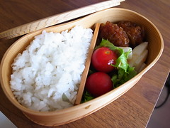 Bento in wooden lunchbox (GinkgoTelegraph) Tags: food japan lunch bento