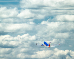 Take Off (JewelsMari) Tags: southwest clouds canon airport kansascity missouri hdr kcmo southwestairlines mci kci wn swa aoa photomatix airoperations canon7d