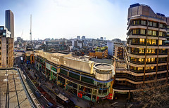 Tottenham Court Road from a rooftop (Anatoleya) Tags: road city roof 3 london rooftop canon court prime mark f14 iii 5d 24mm hdr mk rd tottenham f14l 5d3 anatoleya