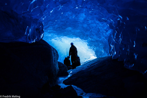 Life underneath the glacier!