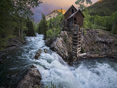 Crystal Mill sunset (wishiwsthr) Tags: panorama color mill rural river landscape waterfall colorado stream mining delapidated crystalmill rushingwater crystalriver vertorama crystalco wishiwsthr bradmcginleyphotography