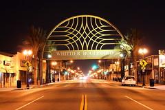 Whittier Boulevard (BOBROSS75) Tags: california longexposure streets buildings lights la bridges trains nighttime nightime highrise freeways nightpics lastreets canont1i