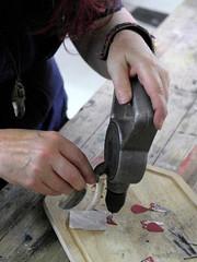 Upcycled Metal & Tin - Jewellery - 28 June 13 (ArtisOn Masham) Tags: jewellery metalwork workshops masham artison craftworkshops michellepilkington