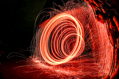 It's the Red, wool. (m2 Photo) Tags: wool night fire steel