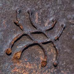 Symbol of the unknown (R A Pyke (SweRon)) Tags: old abstract iron symbol rusty icon rusted reality fujifilm xpro1 sweron fujinonxf35mm 20130724