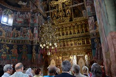 Horezu Monastery in Wallachia, Church of Sts. Constantine and Helen, 1690-92, interior with paintings of 1694 (2) (Prof. Mortel) Tags: romania wallachia horezu horezumonastery