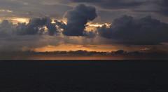 water. clouds. energy. (Soenke HH) Tags: ocean orange nature water windmill weather silhouette oslo norway clouds germany dawn licht norge energy meer wasser mood horizon energie natur north norden skandinavien silhouettes norwegen wolken olympus northsea scandinavia windrad nordsee fähre horizont wetter stimmung kraft e5 wellen windpark kile swd1260