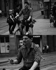 [La Mia Citt][Pedala] (Urca) Tags: portrait blackandwhite bw italia milano bn ciclista biancoenero bicicletta pedalare 2013 dittico 58446 ritrattostradale nikondigitalefilippetta