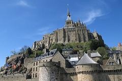 Mont-St-Michel, les remparts (Ytierny) Tags: france saint architecture pierre normandie fortification michel mont abbaye edifice flche rempart lieudeculte ytierny
