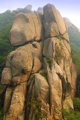 Rock Face, Bukhansan National Park (), Seoul, South Korea (Damon Tighe) Tags: park summer mountains rock stone outdoors asia hiking south korea national seoul np  bukhansan