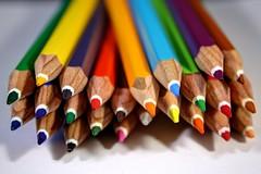 Colouring Pencils (Crisp-13) Tags: color colour pencils rainbow colored coloured hdr
