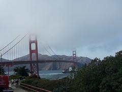 Golden Gate Bridge (New2Pics) Tags: sanfrancisco california vacation fun foggy samsung windy goldengatebridge goldengate cloudyskies samsunggalaxy flickrandroidapp:filter=none