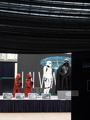 Star Wars boxed (Nekoglyph) Tags: costumes red white black museum dark starwars tv display framed cleveland exhibition empire stormtrooper imperial movies curtains sciencefiction darthvader teesside invasion sith memorabilia darklord jawas replicas kirkleatham