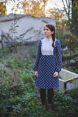 Grete (Rait_Tuulas) Tags: autumn portrait woman girl beauty vintage tallinn dress naturallight elegance raittuulas