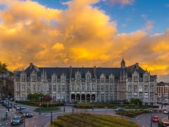 Lige: The Ardent City (Falcdragon) Tags: autumn sky clouds belgium burning liege lige ardent