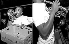 Street Musicians (danielle moir photo) Tags: street new city urban blackandwhite bw music white black musicians night corner fun photography orleans neworleans joy group band streetphotography photojournalism trumpet jazz streetscene scene improvisation hiphop nightlife alive nola hip horn streetcorner hotspot rockin happening exciting joyous trumpetplayer streetmusicians frenchmen improvisational nightmusic streetjazz frenchmenstreet hornplayer musicscene nighscene neworleansnight streetmusiciansnola rockinmusic cornerjazz hipscene streetmusicianneworleans