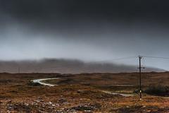 Bleak (www.charlottegilliatt.com) Tags: road skye bend wires bleak lonely poles desolate rannochmoor charlottegilliatt