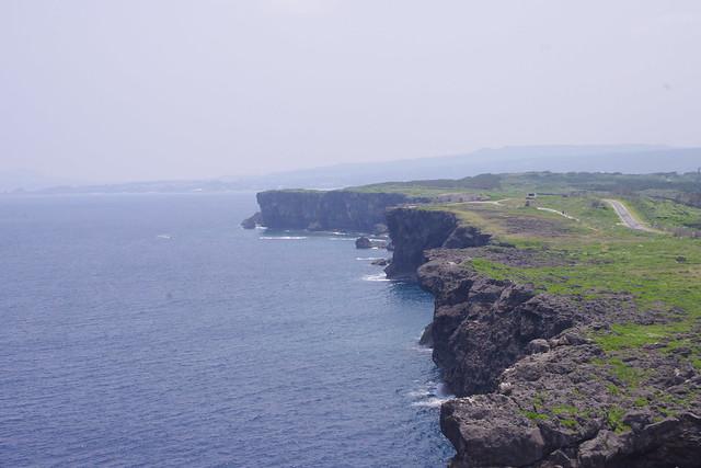 灯台から見る残波岬|残波岬