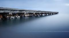 [ Explore ] Minimalist Pier # 4 ( Cannes, Alpes-Maritimes - France ) (Yannick Lefevre) Tags: longexposure light seascape france photoshop landscape pier nikon cotedazur raw nef cannes tripod paca bluehour provence paysage minimalist manfrotto hoya frenchriviera ndfilter nd400 poselongue nd8 nikoncapturenx d700 ndx400 capturenx2 yllogo nikkor1635mmf4 yannicklefevre||photography