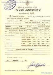 Certidão Nascimento André Luiz Riegel Prati 1969