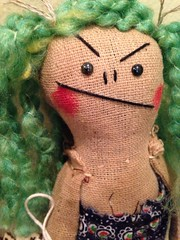 christmas colors!  :) (Dymphna ) Tags: christmas blue red holiday cute green art naughty friend doll handmade folk ooak bad gift angry present mean pocomedio uploaded:by=flickrmobile flickriosapp:filter=nofilter