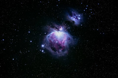 Orion Nebula (Gatria) Tags: sky 3 color colour night photoshop canon ed nebel nacht mark iii ngc deep himmel mount cc 106 telescope nebula orion m42 5d astronomy stacking asa messier takahashi