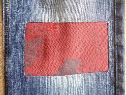 Jeans patch.