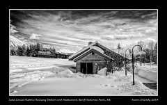Lake Louise Historic Railway Station and Restaurant, Banff National Park, Alberta (kgogrady) Tags: park old blackandwhite bw mountain lake snow canada mountains cold building ice station clouds train landscape rockies blackwhite nikon afternoon exterior g rocky noone peak railway ab nopeople s canadian historic railwaystation louise national trainstation alberta infrared historical banff rockymountains canadianpacific nikkor lakelouise cpr hamlet afs dx banffnationalpark parkscanada canadianrockies 2014 lightstandards ifed canadianmountains d80 canadiannationalparks nikkor1870mmf3545gifed canadanationalparks picturesofcanada photosofcanada albertalandscapes calgarypubliclibraryphotographyclub picturesofalberta photosofalberta photosofbanffnationalpark photosofbanff picturesofbanffnationalpark picturesofbanff canadianrockieslanscape canadianhamlet picturesoflakelouise photosoflakelouise lakelouisehistoricrailwaystationandrestaurant