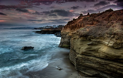 sunset cliffs (Andrew Scott Bauer) Tags: ocean california travel sunset sky seascape beach clouds sand rocks sandiego cliffs beachscape canonefs1022mmf3545usm mygearandme mygearandmepremium mygearandmebronze mygearandmesilver mygearandmegold