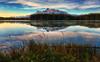 Break of Dawn at Two Jack (Jeff Clow) Tags: morning travel canada reflection nature landscape dawn natural albertacanada banffnationalpark twojacklake ©jeffrclow banffphototour jeffclowphototours