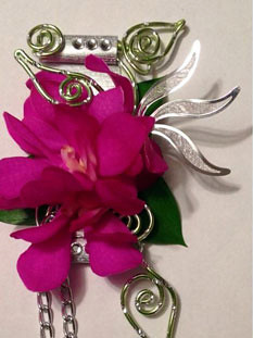 Industrial and Edgy Boutonniere— Sandy Schroeck, AIFD, CFD, PFCI/Oasis Design Team