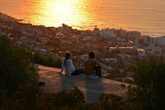 Sunset Serenade (atriray) Tags: togetherness southernhemisphere southafrica capetown signalhill atlanticocean golden glow music romance serenade sunset