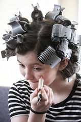 conceiler (toyfoto) Tags: hair rollers clips theater experiment 42ndstreet 2017 cutesy girl babyofmine