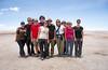 Group photo at Uyuni Salt Flats