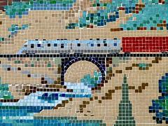 Marina Safeway mosaic 2/4 (Jef Poskanzer) Tags: mosaic tile safeway marina geotagged geo:lat=3780461 geo:lon=12243234 t train bridge
