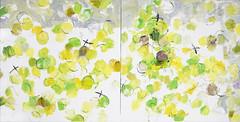 Diptych: Seikurabe wo mohichido (mayakonakamura) Tags: mayako nakamura commissionedwork watermarkartscrafts watermark tokyo abstract painting oil canvas contemporaryart