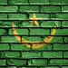 National Flag of Mauritania on a Brick Wall