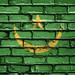 National Flag of Mauritania on a Brick Wall