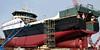 2017-03-04 Factory Trawler America's Finest (02) (2048x1024) (-jon) Tags: anacortes fidalgoisland sanjuanislands skagitcounty skagit washingtonstate salishsea guemeschannel portofanacortes dci dakotacreekindustries boat ship vessel americasfinest fishermansfinest factorytrawler trawler skipstekniskas st116xl build hull construction paint shipyard boatyard a266122photographyproduction genies85 genies125 boomlift telescopicaerialplatform cherrypicker telescopicboom pacificocean pacific ocean pacificnorthwest pnw drydock