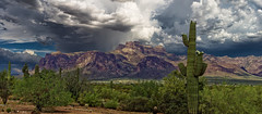 Superstition  Mountains (John_Michael_Photo) Tags: beautiful cloudy dramatic landscape natural nature rain storm storms stormy sunlight thunderhead thunderstorm weather sonya6000 arizona superstitionmountains apachejunction hdraddicted hdr photomatix